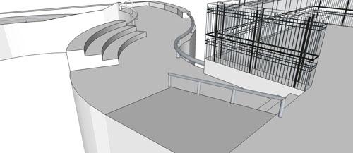 Parte do projeto da skate plaza do Parque da Independencia (Divulgação)