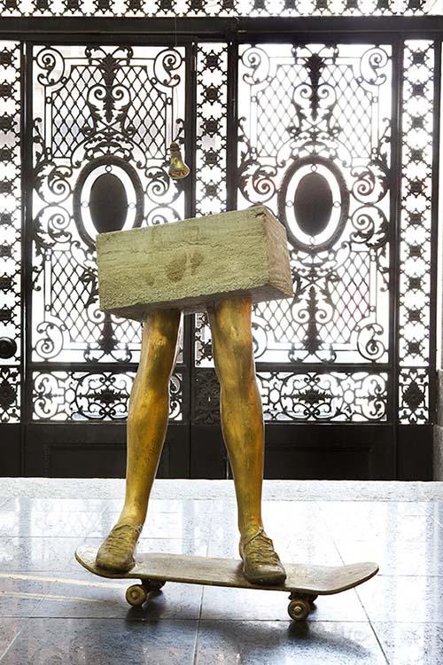 Skate, Bronze e Concreto por Antônio Bokel
