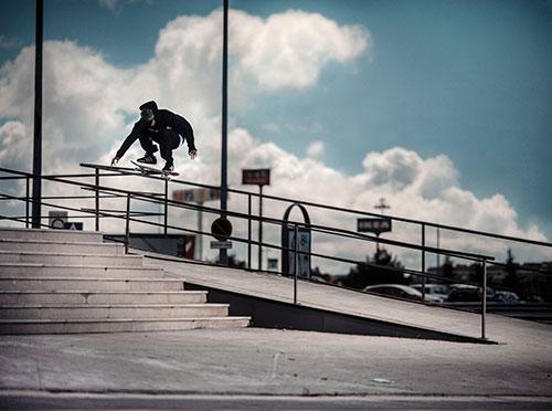 Rodrigo TX na primeira missão com a adidas skateboarding em Madrid (Divulgação)