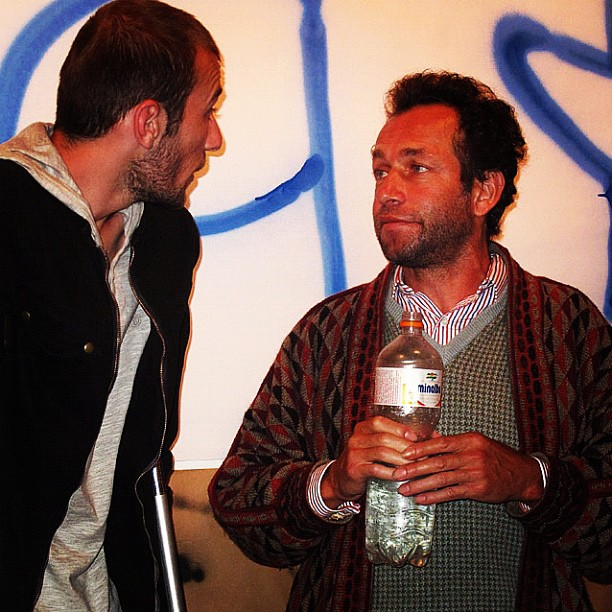 Klaus Bohms e Mark Gonzales (foto: Sidney Arakaki)
