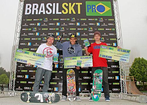 Pódio Brasil Skate Pro em São Bernardo (Divulgação)