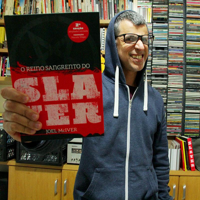 Marcelo Viegas, tradutor da segunda edição da biografia do Slayer em português (foto: Sidney Arakaki)