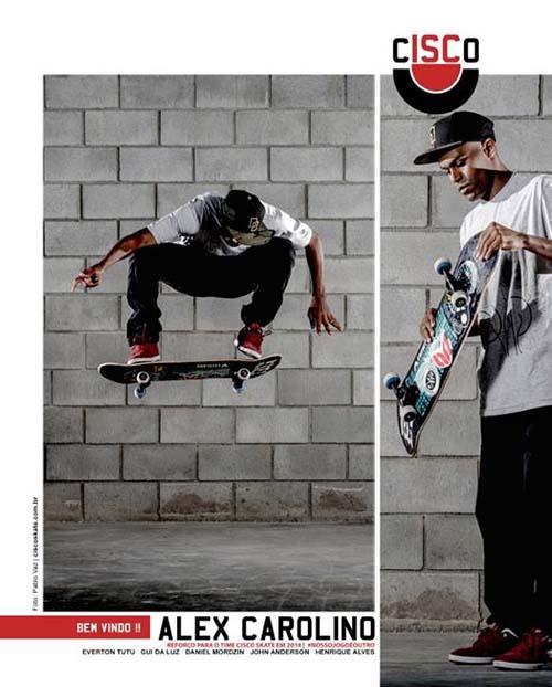 Alex Carolino é o novo skatista profissional da Cisco Skate (Divulgação)