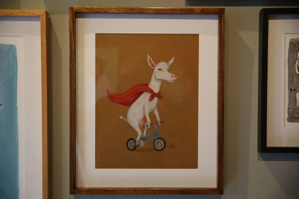 """""""A Cabra Ciclista"""" Lápis de cor sobre papel Canson Mi Teintes 160 g/m2 40 x 49 cm (Divulgação/Henrique Madeira)"""
