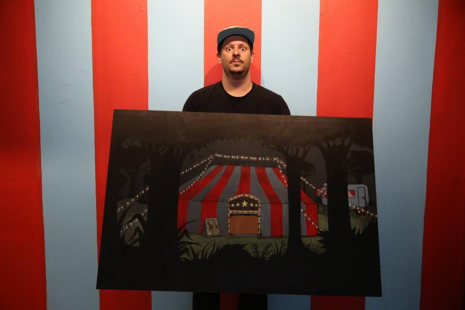 """Mottilaa e sua exposição """"O Circo Chegou"""", na Galeria Homegrown (Divulgação/Henrique Madeira)"""