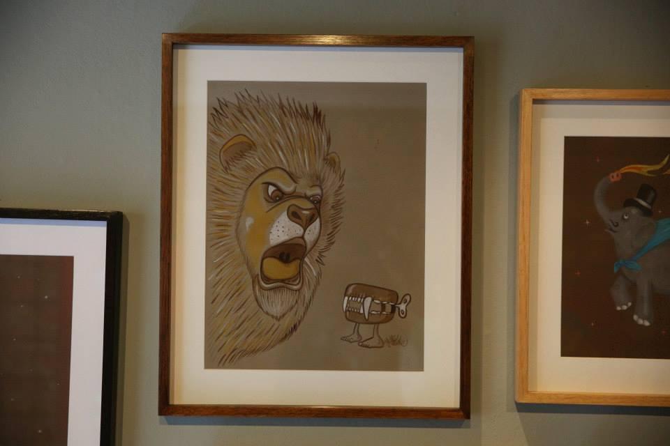 """""""Calma minha gente que o leão é sem dente"""" Aquarela sobre papel Canson Mi Teintes 160 g/m2 44,5 x 54,5 cm (Divulgação/Henrique Madeira)"""