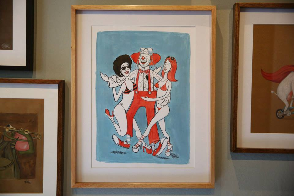 """""""Tereré, o palhaço que é ladrão de mulher"""" Nanquim e aquarela sobre papel Fabriano 240g/m2 47,5 x 60cm (Divulgação/Henrique Madeira)"""