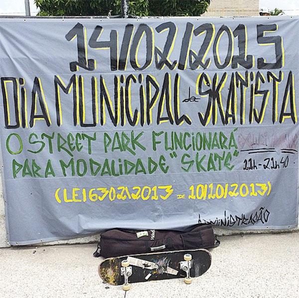 14 de fevereiro é o Dia Municipal do Skatista em São Bernardo (foto: Sidney Arakaki)