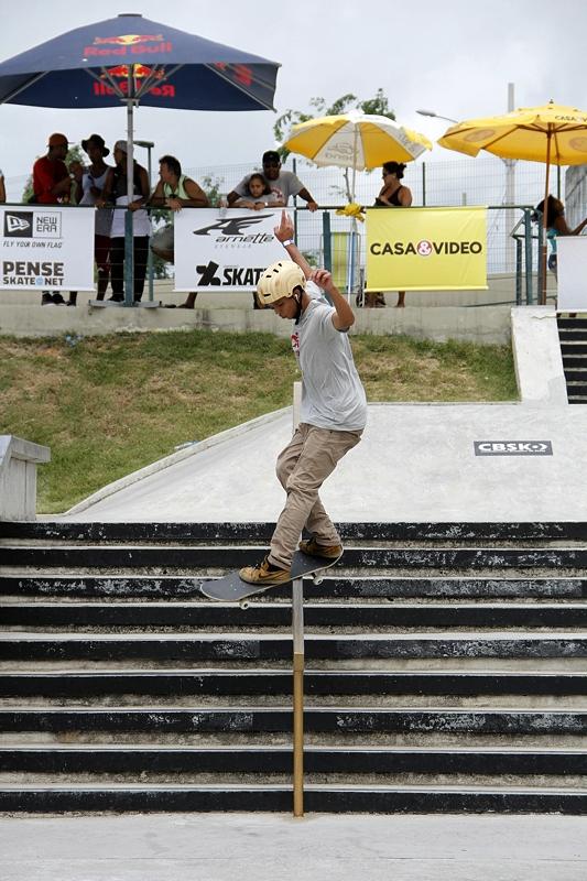 Paulista Matheus de Souza é o campeão brasileiro de street skate amador 2014 (CBSk/Tio Verde)