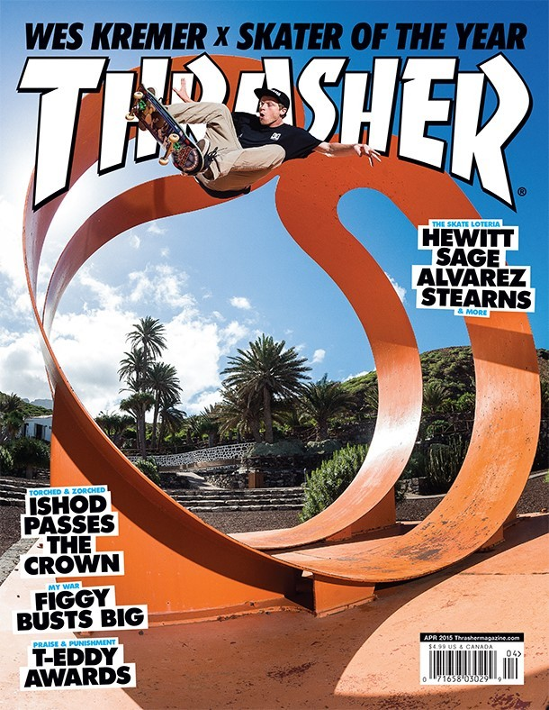 Capa da edição de abril da Thrasher Magazine