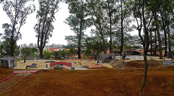 Pista está sendo finalizada no Parque Pignatari (Divulgação)