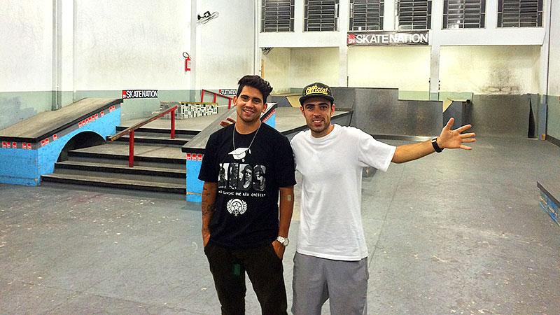 Ytalo Farias e Tulio Oliveira, fundadores da Skate Nation (foto: Sidney Arakaki)