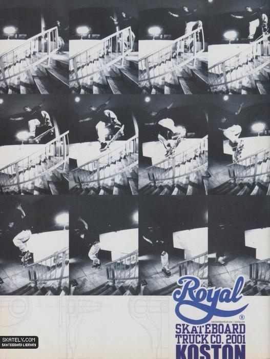 Anúncio do Koston na Royal de 2001 (Reprodução)