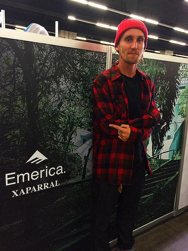 A Emerica apresentou oficialmente o skatista que representará a marca no Brasil: Lucas Xaparral. (foto: Sidney Arakaki)