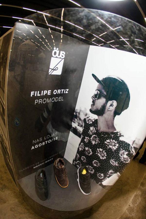 A ÖUS mostrou em primeira mão o modelo de tênis desenvolvido e assinado por Filipe Ortiz.