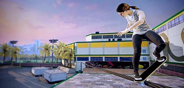 "Leticia Bufoni no ""Tony Hawk Pro Skater 5"" (Reprodução)"