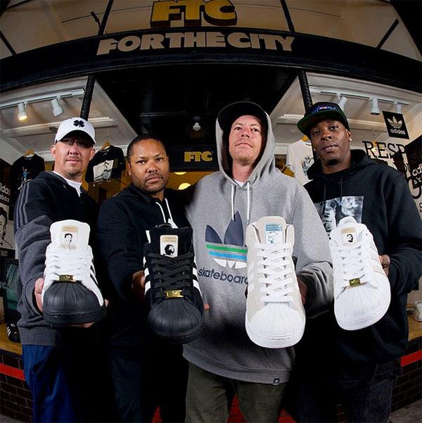 Kareem Campbell, Joey Bast, Drake Jones e Richard Angelides ganham versões do Superstar da adidas Skateboarding (Divulgação)