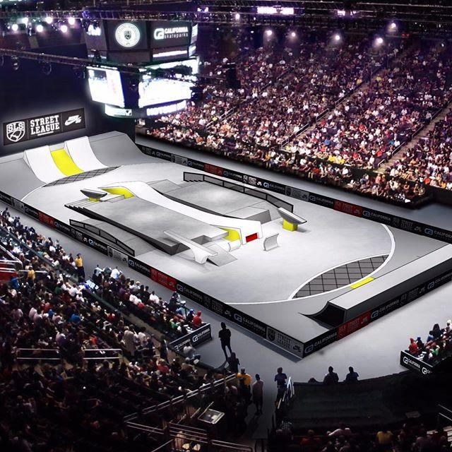 Luan e a California Skateparks projetaram pista da etapa de Los Angeles da Street League. (Divulgação)