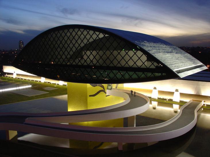 Museu Oscar Niemayer, em Curitiba (Divulgação/Estado do Paraná)