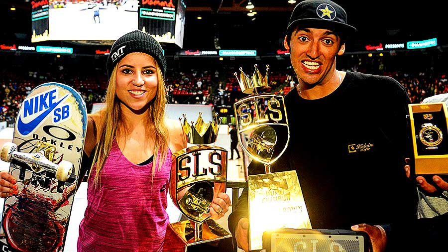 Leticia e Kelvin são os campeões do Super Crown World Championship da Street League (Cortesia Street League/Shigeo)