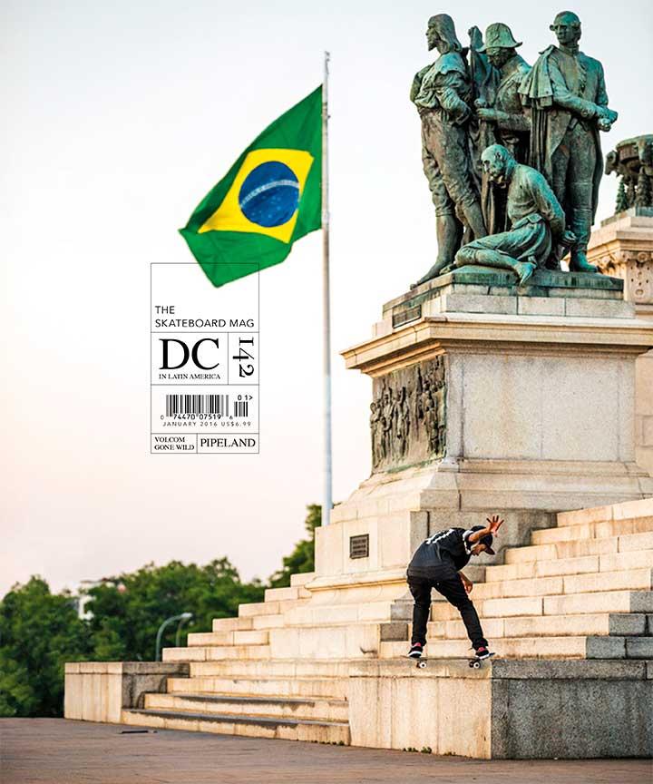 Felipe Gustavo na capa da edição 142 da The Skateboard Mag (Reprodução)