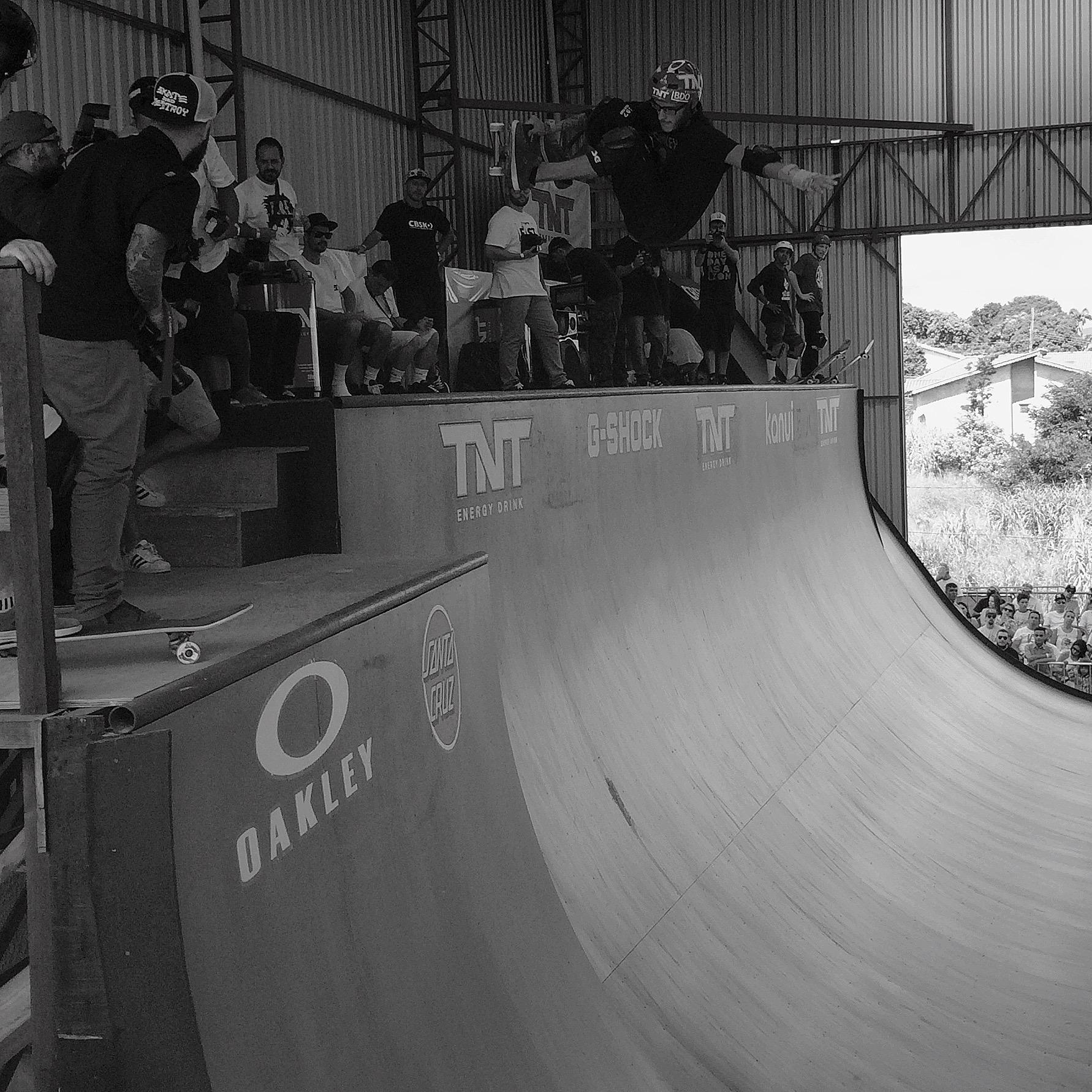 O anfitrião é um dos skatistas que mais tem somado ao skate. (Sidney Arakaki)