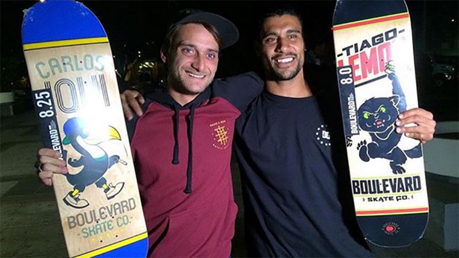 Iqui e Tiago são os novos skatistas profissionais da BLVD e DC Shoes. (Reprodução)