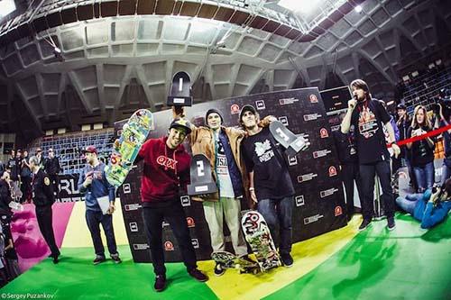 Na Rússia, Kelvin Hoefler garantiu o quarto título mundial consecutivo de Street Skate (Divulgação)