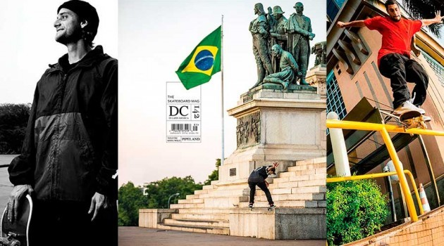 Felipe Gustavo na capa da The Skateboard Mag