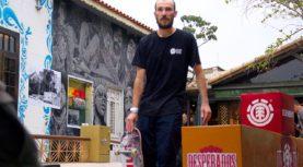 Pro-model do Klaus Bohms pela Element Skateboards