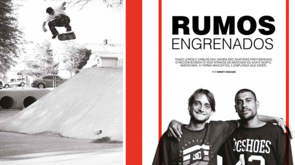 Carlos Iqui e Tiago Lemos para revista Tribo Skate